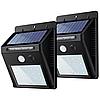Led світильник на сонячній батареї вуличний з датчиком руху 20 LED комплект 2 шт
