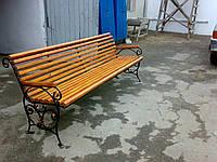 Пластиковая скамейка для дачи