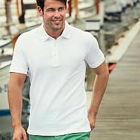 Белая мужская рубашка поло Premium