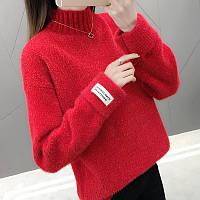 Вязанный ангоровый пушистый свитерок