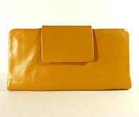 Купюрник, портмоне, кошелек кожаный женский желтый