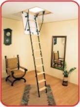 Деревянная чердачная лестница на дачу Oman Mini