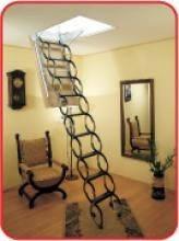 Чердачная металлическая лестница с люком Oman Nozycowe, фото 2