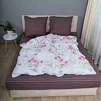 Комплект постельного белья KrisPol «Нежные цветы» 150x220 Бязь Голд