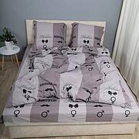 Комплект постельного белья KrisPol «Серая полоска» 200x220 Бязь Голд