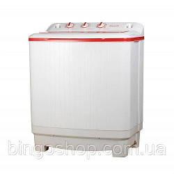Стиральная машина полуавтомат VILGRAND VD709-53E красная на 7 кг с вертикальной загрузкой