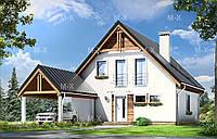 Проект дачного дома с террасой MS105