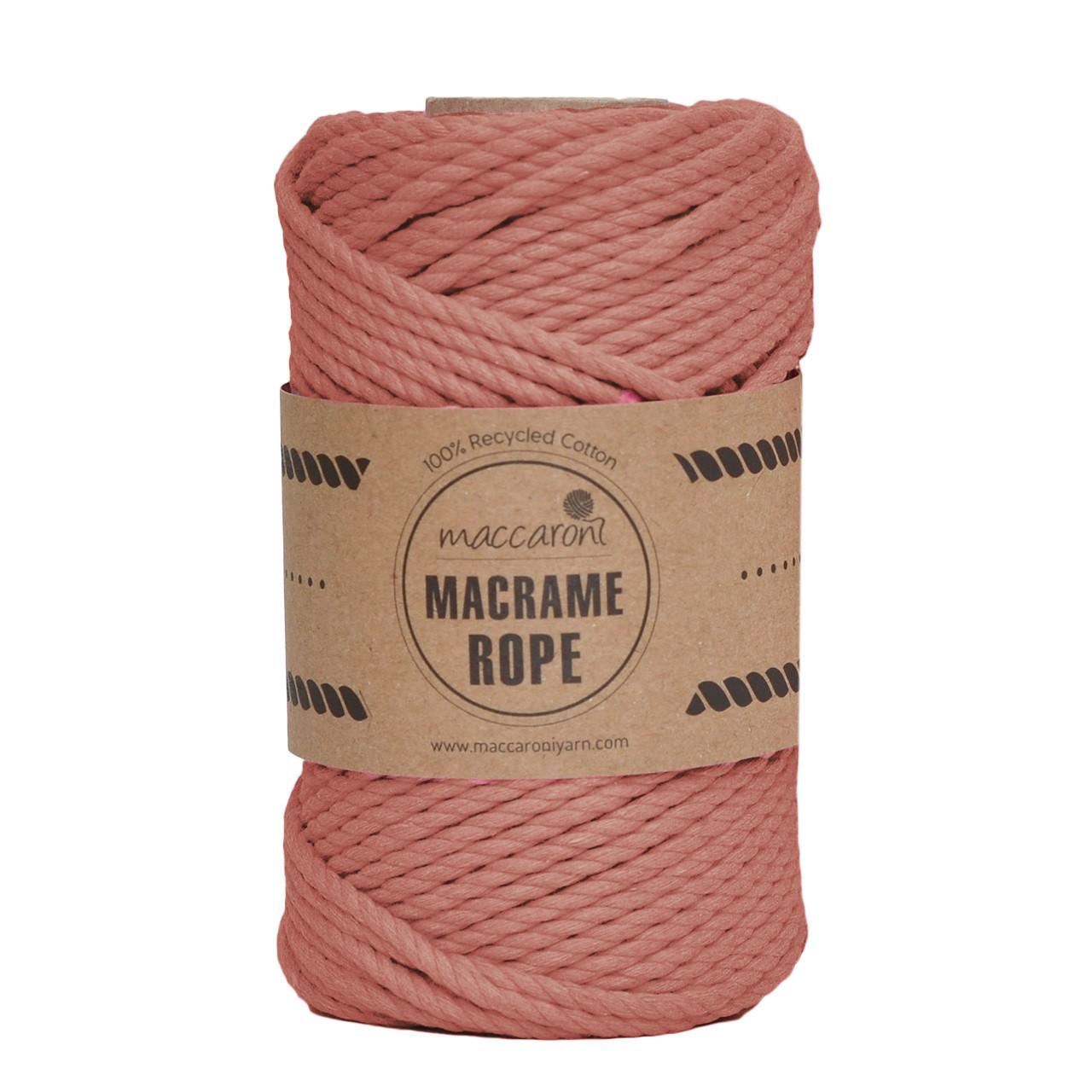 Бавовняний шнур Maccaroni Macrame Rope 4 mm Цегляний