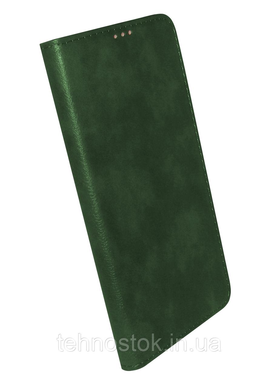 Чохол-книжка Xiaomi Redmi 9A dark green Leather