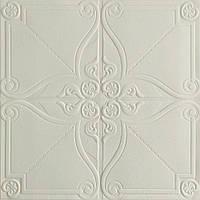 Потолочная панель ПВХ Орнамент Вензель 10 шт 3Д панели самоклейка мягкая для потолка плитка 700*700*6мм, фото 1