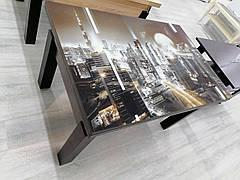 Кухонный стол трансформер Флай венге со стеклом  Fusion Furniture
