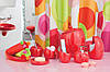 Набор аксессуаров в ванную комнату 6 предметов Нора красный