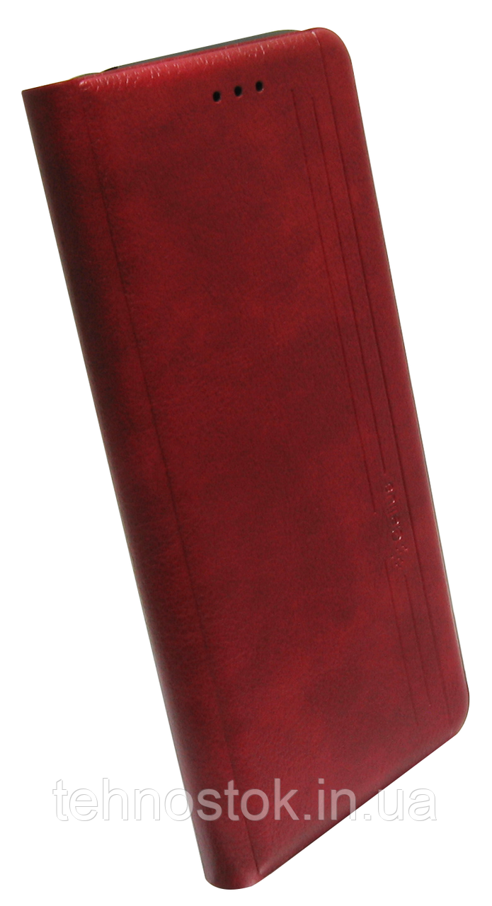 Чехол-книжка Xiaomi Redmi 9C marsala Leather Gelius New