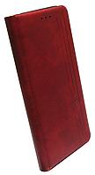 Чехол-книжка Xiaomi Redmi 9C marsala Leather Gelius New, фото 1