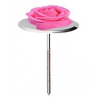 Гвоздик кондитерский для создания цветов Металлический гвоздь для роз из крема D 3,2 cm L 7 cm