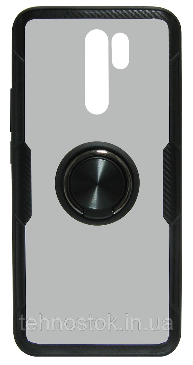 Накладка Xiaomi Redmi 9 black Deep CrystalRing