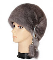 """норковая  шапка модель """"конфетка лучики"""""""