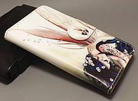 Чехол-книжка с рисунком для Huawei Ascend Y600