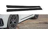 Бічні спліттера під пороги Audi Q8 2019 - р. в. Maxton Design