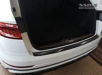 Захисна накладка на задній бампер Audi Q8 2019 - р. в. нержавійка чорна
