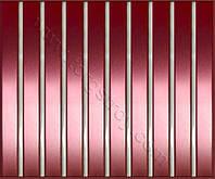 Реечные алюминиевые зеркальные потолки: медь со вставкой зеркало-хром