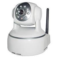 Камера WI-FI T 8809 RW поворотная с возможностью записи на SD Код:14898497