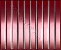 Реечные алюминиевые зеркальные потолки: медь со вставкой металлик