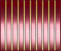 Реечные алюминиевые зеркальные потолки: медь со вставкой золото-зеркало
