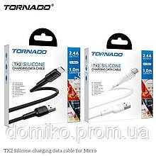 Кабель USB Micro TORNADO TX2 black Silicone