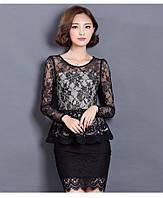 Элегантная блузка с баской, фото 1