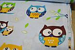 Ткань с цветными совами на голубом фоне (№132)., фото 6
