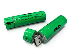 Аккумулятор 18650 Li-ion 3.7v BLD USB18650 3800 mAh c USB зарядкой, фото 3