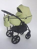 Детская универсальная коляска 2 в 1 Rapido CLE 00 салатовый кожа