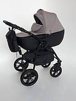 Дитяча універсальна коляска 2 в 1 Rapido CLTK бежевий+чорний тканина+шкіра