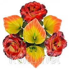 Искусственные цветы букет роза и калла, 34см