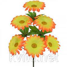 Искусственные цветы букет цветной ромашки, 36 см