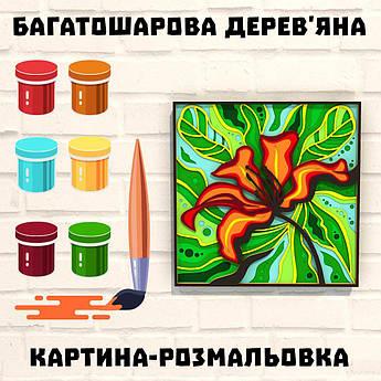Деревянная картина-раскраска  Экзотический цветок