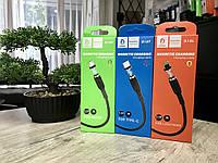 Кабель магнитный Denmen D18V USB на выбор Micro USB, Type C или Lightning 2.4A