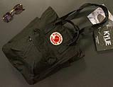 Сумка рюкзак 2в1 Kanken FJALLRAVEN Totepack Канкен 14 л Чорний повсякденна міська сумка-рюкзак трансформер, фото 3