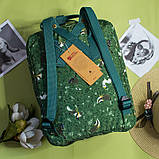 Рюкзак Kanken FJALLRAVEN Канкен 16 л повседневный рюкзак школьный портфель, Зеленый с енотом Разные цвета, фото 4