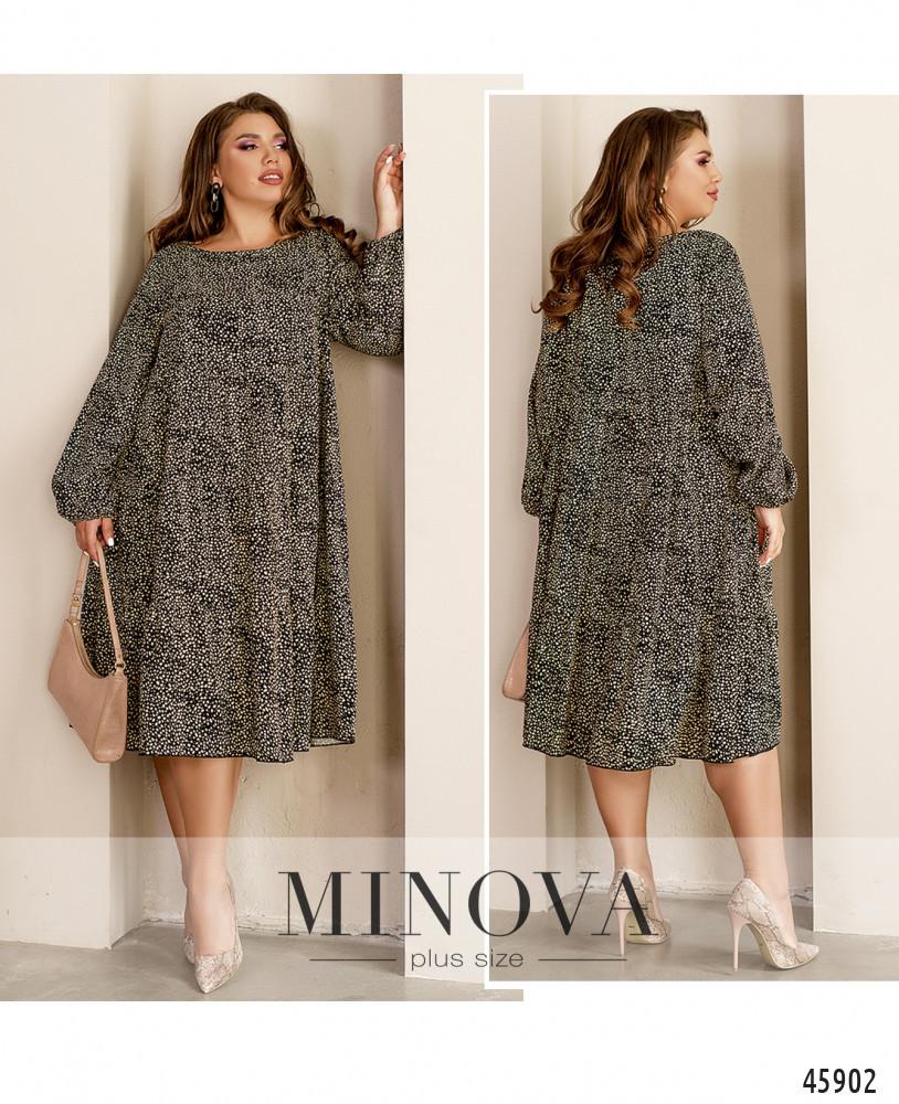 Платье №1064-черный черный/50-52