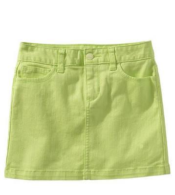 Женская джинсовая юбка мини юбка салатового цвет