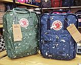 Рюкзак Kanken FJALLRAVEN Канкен 16 л повседневный рюкзак школьный портфель, Зеленый с енотом Разные цвета, фото 9