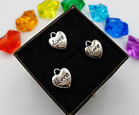 """(10шт) Кулони з металу, підвіска """"Серце LOVE"""", фото 1"""