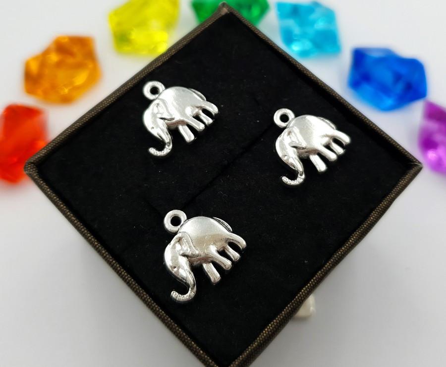"""(10шт) Кулони з металу, підвіска """"Слон"""""""