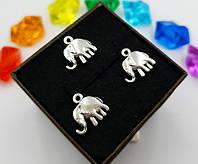 """(10шт) Кулони з металу, підвіска """"Слон"""", фото 1"""