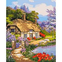 """Картина за номерами. """"Заміський будинок"""" KHO2255, 40х50 см"""