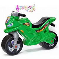 Детский беговел мотоцикл музыкальный 501G Зеленый