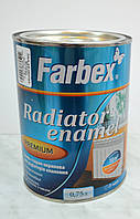 Эмаль стирол-акриловая для радиаторов отопления  Farbex (0,75 л), фото 1
