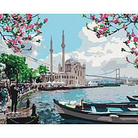 """Картина за номерами. Міський пейзаж """"Турецьке узбережжя"""" KHO2166, 40*50 см"""